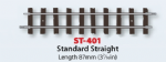 ST-401 Peco Setrack 00-9 Standard Straight  L87mm (3 7/16in)